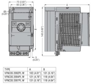 convertizor de frecventa VFNC3S200PLW