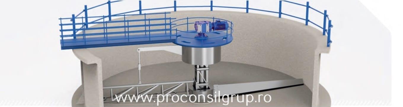 Motoreductoare conico cilindrice pentru instalații decantoare - Proconsil Grup Iasi