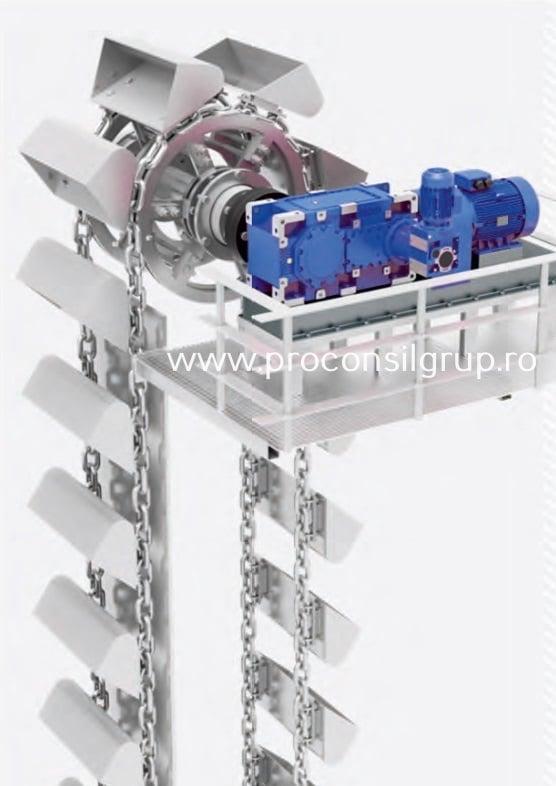 Motoreductoare cu axe parelele pentru elevatoare Proconsil Grup Iasi
